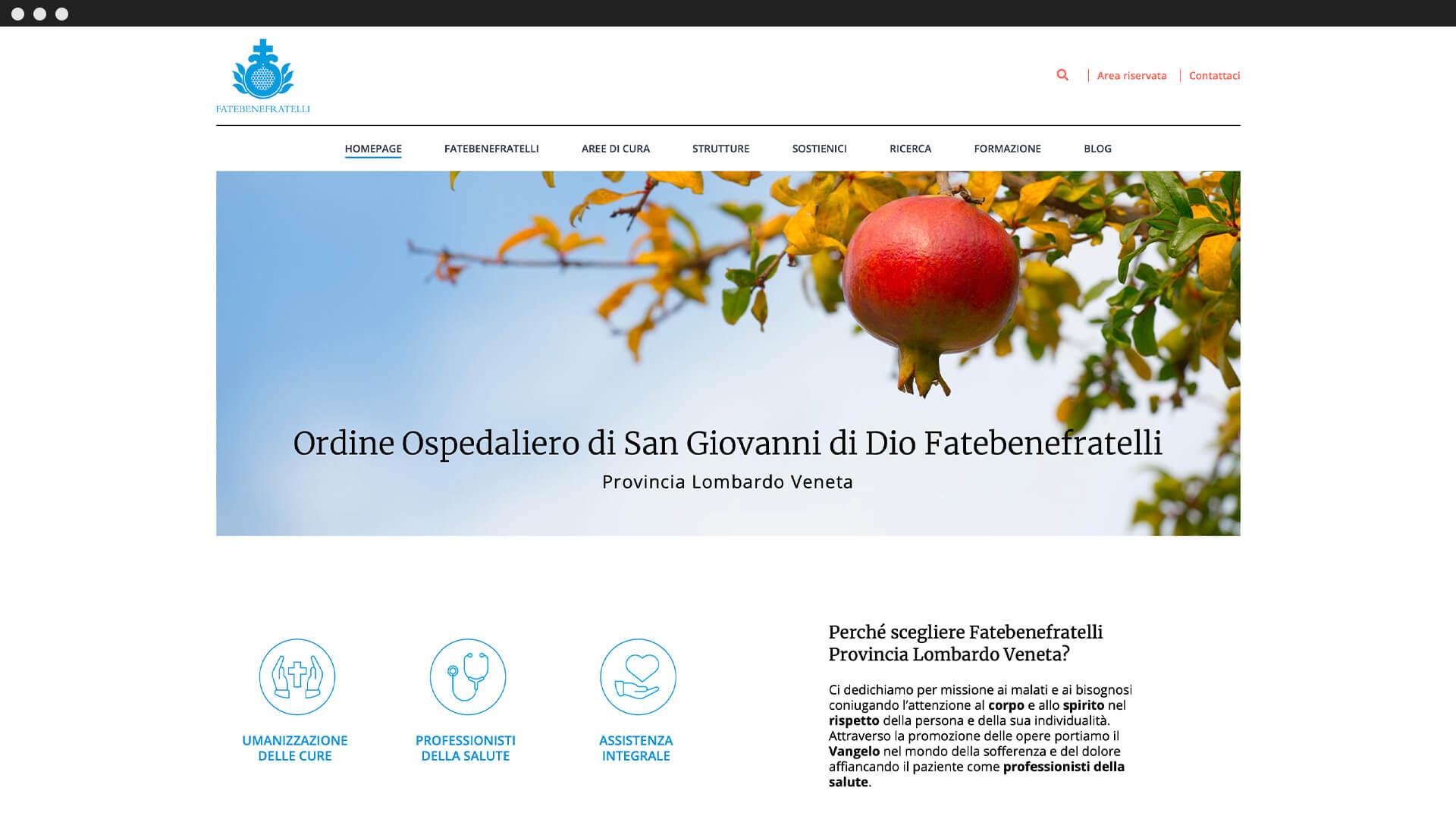 Home Page Sito Web
