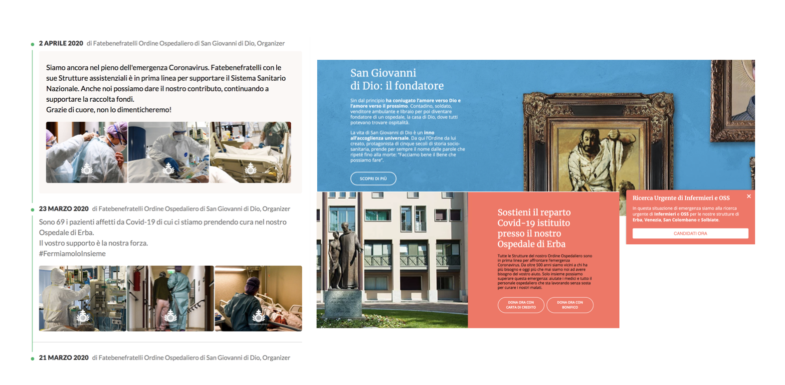 Digital Dictionary ha creato l'attività di fundraising per Fatebenefratelli